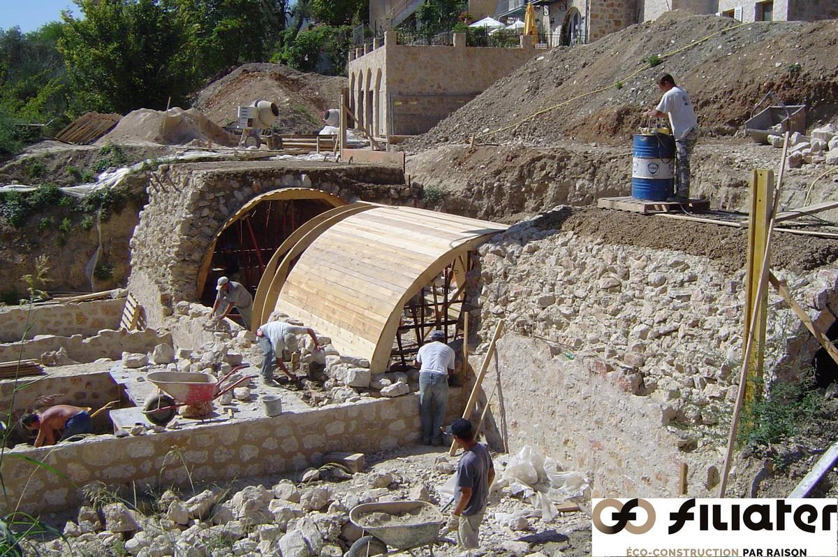 Chantier Magnagnosc Construction Des Voutes 0005